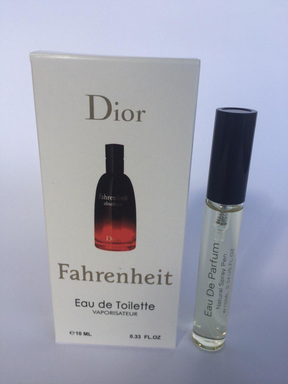 Мужской мини парфюм с феромонами Christian Dior Fahrenheit (Кристиан Диор Фаренгейт) 10 мл