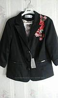Женский пиджак с вышивкой большие размеры 48-58