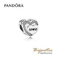 Pandora Шарм НАГРАДА МАМЕ #792070CZ серебро 925 Пандора оригинал