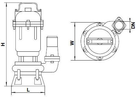 Бытовой канализационный насос Aquatica 773413 размеры_2
