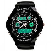 Мужские спортивные часы Skmei 0931 черные
