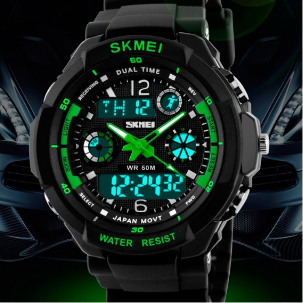 Мужские часы Skmei 0931 зеление