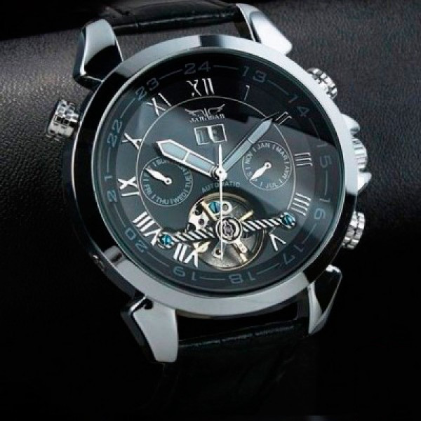 Мужские часы Jaragar Turboulion Silver