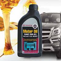 Моторное масло Toyota 5W30 Motor Oil USA 1л синтетика оригинальное для TOYOTA 5W-30 USA