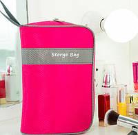 Органайзер-косметичка Storge bag. Розовый цвет