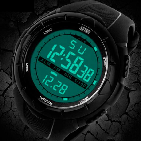 Водонепроницаемые мужские часы Skmei 1025 черные