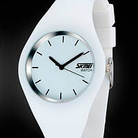 Женские часы Skmei 9068 Rubber White