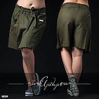 Свободные летние шорты темно-зеленые