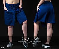 Свободные летние шорты темно-синие