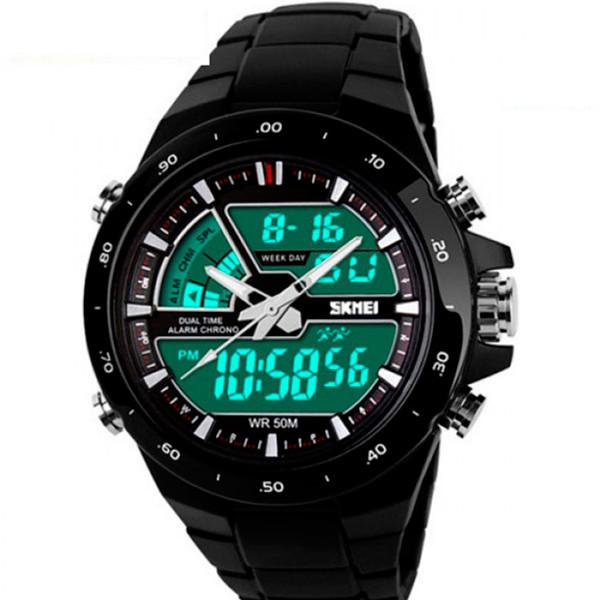 Мужские часы Skmei 1016 Shark Black