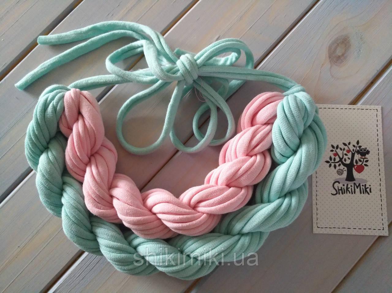 Колье женское вязаное из трикотажной пряжи Сюзанна