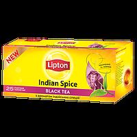Чай Липтон Indian Spice чёрный с ароматом специй 25 пакетов по 2г