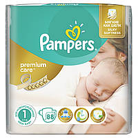 Подгузники памперс PAMPERS Premium Care 1 NewBorn (2-5 кг) 88 шт