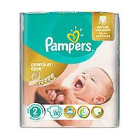 Подгузники памперс PAMPERS Premium Care 2 Mini (3-6 кг) 80 шт