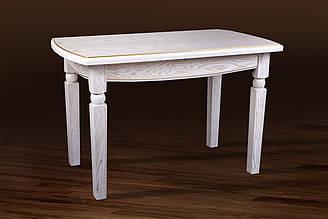 Стіл обідній Кайман 120 білий c патиною