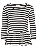 Женская блуза черно/белого цвета с длинным рукавом Isha 1 от Desires (Дания) в размере S
