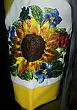 Стильное вышитое детское платье Подсолнухи , фото 2