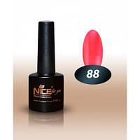 Гель-лак Nice for you № 88 оранжево-коралловый с микроблеском  8,5 мл