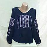 Женская вышитая шифоновая блуза Орнамент , фото 3