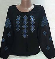 Женская вышитая шифоновая блуза батал, фото 1