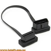 Удлинитель OBD2 16-pin (удлиняющий кабель мама-папа на автосканер ELM327 OBDII)