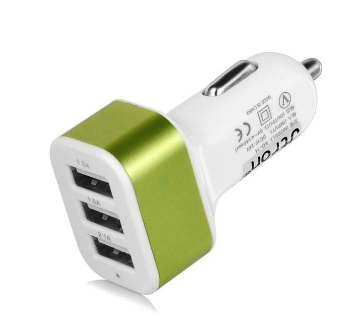 Адаптер CAR USB 3-порта USB-(2.1a 2.0a 1.0a) FFD