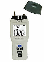 Вологомір деревини і будматеріалів Flus ET-928 (5-70%; 0,1-2,4%) зі змінними голками і термометром