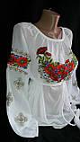 Шикарная вышитая женская шифоновая блуза (рр.42-58), фото 3