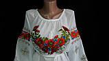 Шикарная вышитая женская шифоновая блуза (рр.42-58), фото 5