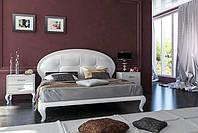 Кровать ИМПЕРИЯ белый глянец 1.6 с мягкой спинкой от Миро-Марк