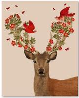 """Картина по номерам 40х50см, набор состоит из холста с контуром """"Олень-цветы"""", акриловых красок и  кисточек - 3шт."""