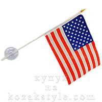 Прапорець США (з присоскою)