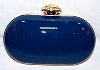 Женский синийй клатч на цепочке