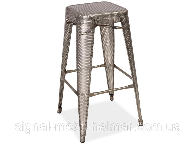 Барный стул Long  Signal сталь перфировата