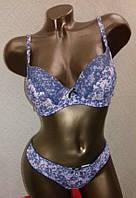 Комплект  белья 35707 чашка В в голубые цветочки