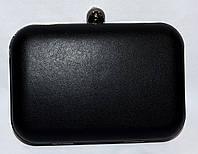 Женский коктельный клатч на цепочке черный
