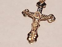 Золотой крестик. Распятие Христа. Артикул 11160-евро