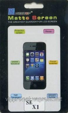 Sony Ericsson_X1, матовая пленка