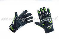 Перчатки KAWASAKI чёрно-зелёные