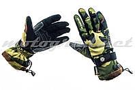 Мотоперчатки утепленные SCOYCO камуфляж зелёно-коричневые