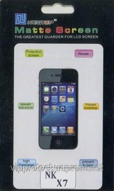 Nokia_X7, матовая пленка