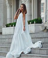 Летнее платье макси из шёлка