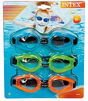 Набор детских очков для плавания Intex
