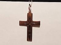 Золотой крестик с алмазной гранью. Спаси и сохрани. Артикул 11498-ЧР/1, фото 1