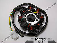 Статор генератора на скутер 125-150сс GY6/QMB/KBF (7+1) GXmotor