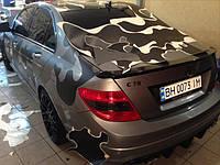"""НАШИ РАБОТЫ: Оклейка Mercedes W204 в """"Камуфляж"""""""