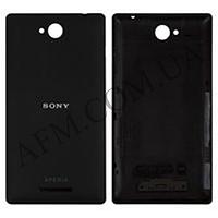 Задняя крышка Sony C2305 S39h Xperia C черная оригинал