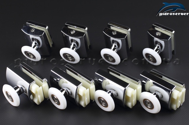 Ролики для душевых кабин, гидромассажных боксов M-01A+B комплекте 8 штук.
