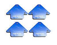 """Набор магнитных фиксаторов для сварки 11,5кг. 82х102х13мм. 4шт """"Hartmann""""."""