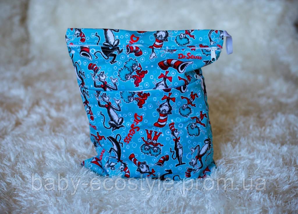 """Удобные сумочки для сухих и мокрых вещей c двумя отделениями черный кот - Интернет-магазин """"Baby Ecostyle"""" в Харькове"""